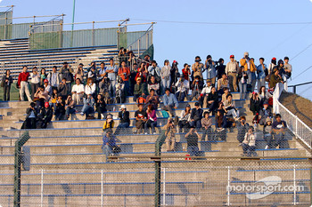 Suzuka fans on late Thursday afternoon