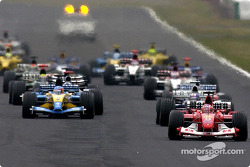 Start: Rubens Barrichello takes the lead