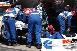 The Garry Rogers Motorsport team work on Garth Tanders car