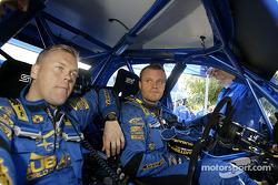 Tommi Makinen and Kaj Lindstrom