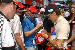 Autograph session for Adrian Fernandez