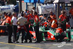 Fernandez Racing pit area