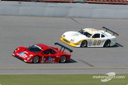 #27 Doran Lista Racing Toyota Doran: Didier Theys, Bill Auberlen, and #29 Sky Blue Racing Mustang: Woodson Duncan, Eric Curran, Stu Hayner