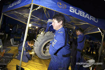 Petter Solberg's blown up tire