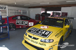 Garry Rogers Motorsport garage area
