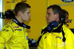 Jaroslav Janis with Jordan engineer Dominic Harlow