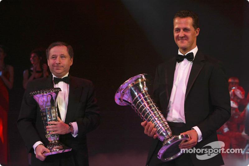Formel-1-Weltmeister Michael Schumacher und Jean Todt