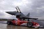 The Ferrari F2003-GA and the Eurofighter Typhoon