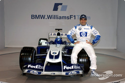 Test driver Marc Gene with the new WilliamsF1 BMW FW26