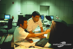Keizo Takahashi, Director Technical Coordination, with a design office engineer