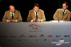 Director of Engineering for Jaguar Racing, Ian Pocock, Managing Director of Jaguar Racing, David Pitchforth and CEO of Premier Performance Division Tony Purnell talk about their plans for the 2004 F1 season