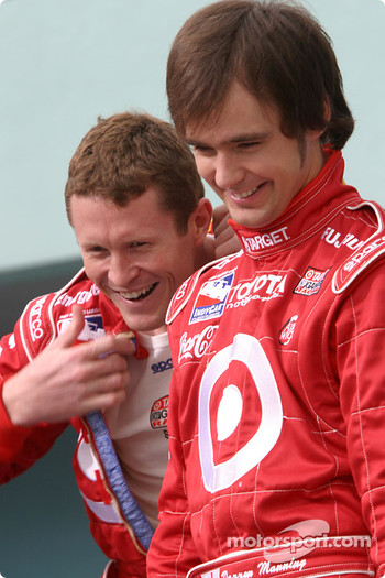 Photo shoot with IRL Toyota drivers: Scott Dixon and Darren Manning