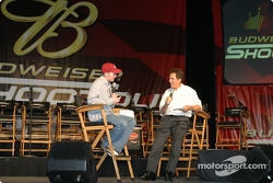 Dale Earnhardt Jr. chats with Darrell Waltrip about his new DVD
