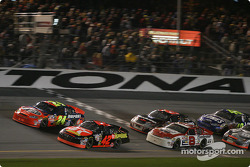 Jeff Gordon battles with Jamie McMurray