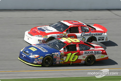 Greg Biffle battle with Dale Earnhardt Jr. for the lead