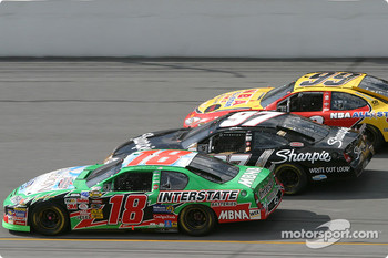 Bobby Labonte, Kurt Busch and Jeff Burton