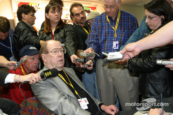 Legendary Bill France meets the members of the media