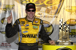 Race winner Matt Kenseth celebrates in victory lane