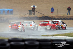 The rain played havoc on Race Day