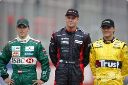 The rookies of 2004: Christian Klien, Gianmaria Bruni and Giorgio Pantano