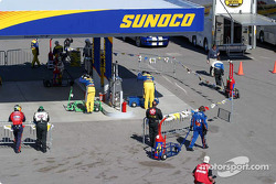 Crews get gas after pit stops