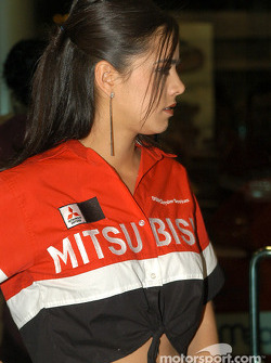 A charming Mitsubishi girl