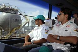 Sauber Petronas drivers visit Bintulu: Felipe Massa and Giancarlo Fisichella