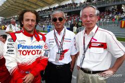 Da Matta with Dr. Saito, EVP Toyota Motor Corporation, and Mr. Ohmori, EVP Denso