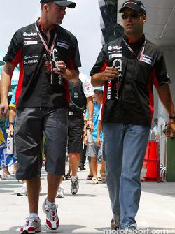 Gianmaria Bruni and Zsolt Baumgartner head to drivers presentation