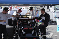 Wayne Reutimann Jr.'s car is prepared