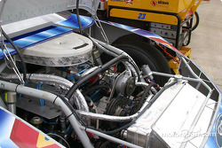 Engine area of a NASCAR race car