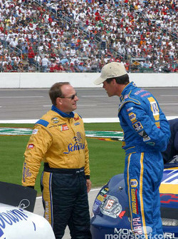 Ken Schrader and Michael Waltrip discus the weather