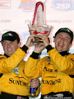 Daytona Prototype podium: winners Wayne Taylor and Max Angelelli