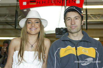 Heinz-Harald Frentzen with pop singer Jeanette Biederman