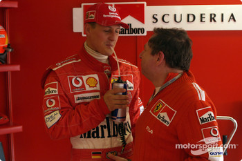 Michael Schumacher and Jean Todt