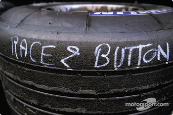 Jenson Button's race tires