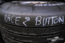 Jenson Button's race tires