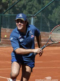 Tennis charity tournament at the Open Sports Club in Barcelona: Felipe Massa
