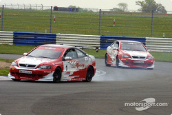 Yvan Muller's engine smokes