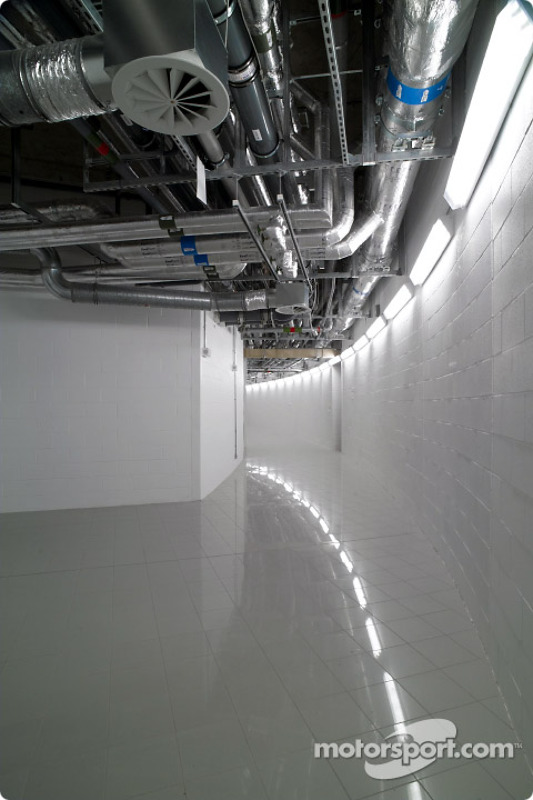 McLaren Technology Centre interior, level -1