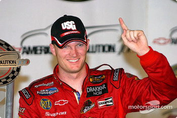 Dale Earnhardt Jr. beams to the crowd
