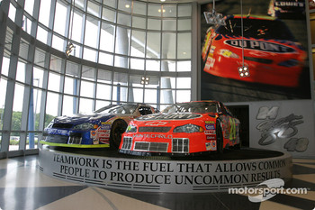 Visit of Hendrick Motorsports: lobby inside the building of #24 and #48 teams