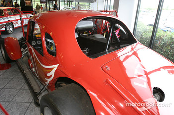 Visit of Hendrick Motorsports: 1940s modified coupe car on display in the museum