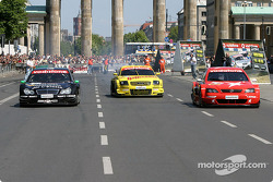 DTM vs football event in Berlin: parade in Berlin