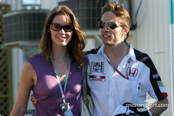 Jenson Button and girlfriend Louise