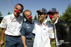 Sauber visit Cirque du Soleil: Felipe Massa and Giancarlo Fisichella