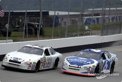 Mark Martin passes Jeff Burton