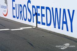 EuroSpeedway start/finish line