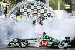 Martin Brundle in the Jaguar