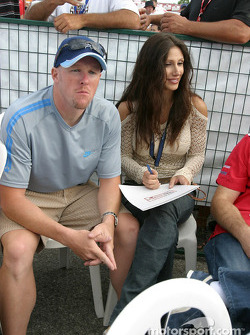 Paul Tracy with his girlfriend